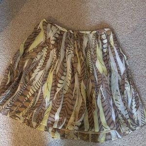 Club Monaco feather skirt